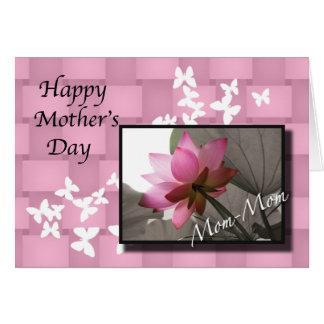 Der Tag Mamma-Mamma Mutter Lotus Karte