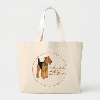 Der Tag Mutter Airedales Terrier Jumbo Stoffbeutel