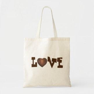 Der Tag Schokoladen-Herz LIEBE Valentines Tragetasche