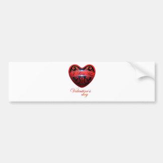 Der Tag von San Valentín Autoaufkleber