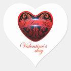 Der Tag von San Valentín Herz-Aufkleber