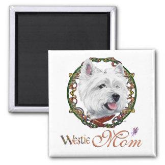 Der Tag Westie Mutter Quadratischer Magnet