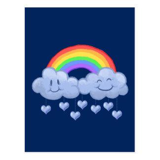Der Tag Wolken-Liebe Valentines Postkarte