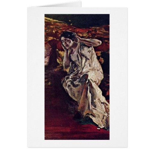 Der Tänzer Madeleine durch Albert Von Keller Grußkarten