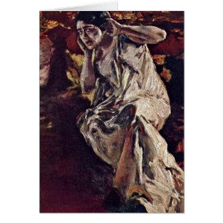 Der Tänzer Madeleine durch Albert Von Keller Grußkarte