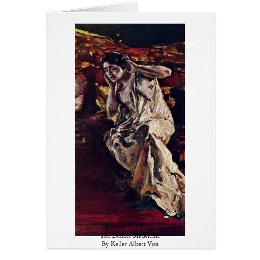 Der Tänzer Madeleine durch Keller Albert Von Grußkarte