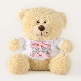 Der Teddybär des glücklichen Valentinsgrußes