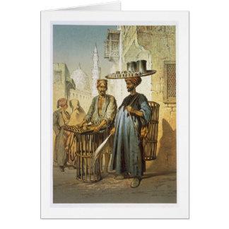 """Der Tee-Verkäufer, """"von der Andenken von Kairo"""", Karte"""