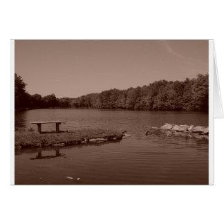 """""""Der Teich bei Grußkarte Dekan-Park"""""""