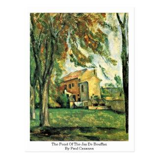 Der Teich Jas De Bouffan By Paul Cezanne Postkarte