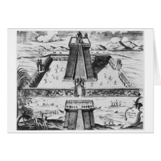 Der Templo Bürgermeister bei Tenochtitlan Karte
