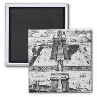 Der Templo Bürgermeister bei Tenochtitlan Quadratischer Magnet