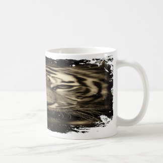 Der Tiger innen! (Grungy Blick) Kaffeetasse