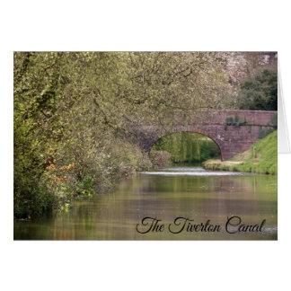 Der Tiverton Kanal, Devon, personalisiert Karte