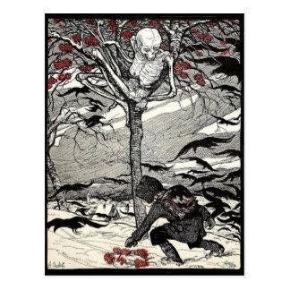 Der Tod im Baum Postkarte