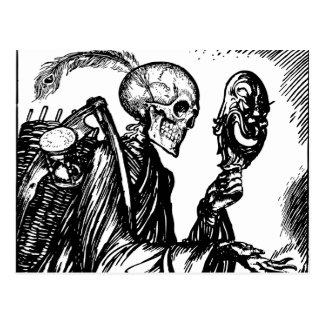 Der Tod ruft auf Postkarte