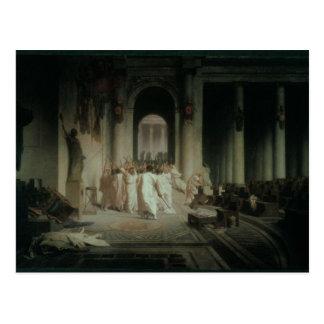 Der Tod von Caesar Postkarte