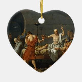 Der Tod von SOCRATES Keramik Herz-Ornament