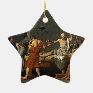 Der Tod von SOCRATES Keramik Stern-Ornament