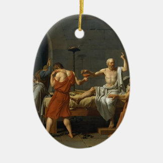 Der Tod von SOCRATES Ovales Keramik Ornament