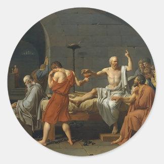 Der Tod von SOCRATES Runder Aufkleber