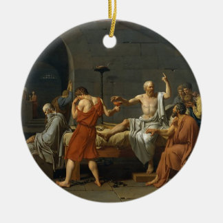 Der Tod von SOCRATES Rundes Keramik Ornament