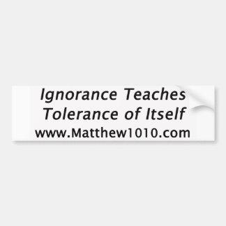 Der Toleranz-Autoaufkleber Autoaufkleber