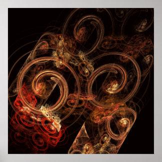 Der Ton Musik-des abstrakten Kunst-Druckes Poster