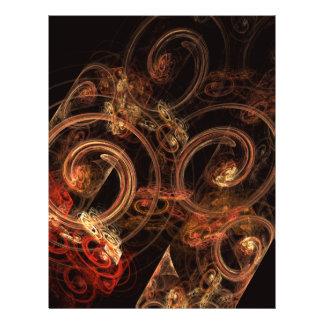 Der Ton Musik-des abstrakten Kunst-Flyers 21,6 X 27,9 Cm Flyer