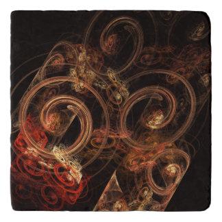 Der Ton Musik-des abstrakten Kunst-Steins Töpfeuntersetzer