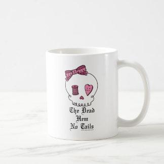Der tote Rand keine Schwänze (Rosa) Kaffeetasse