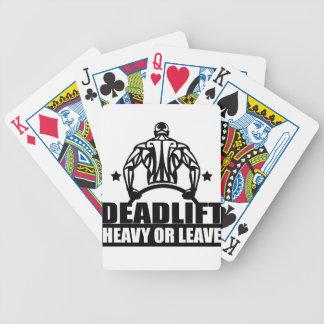 der tote schwere Aufzug oder verlassen Bicycle Spielkarten