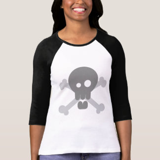 Der Totenkopf mit gekreuzter Knochen-T-Stück der T-Shirt