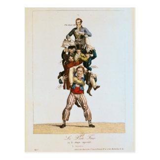 Der Träger oder, die imponierende Belastung, Postkarte