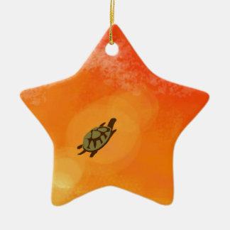 Der Traum der Schildkröte Keramik Stern-Ornament