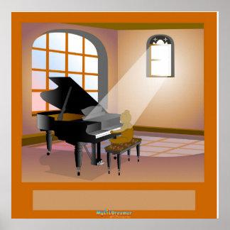 Der Traum eines Pianisten Plakat