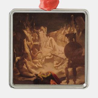 Der Traum von Ossian, 1813 Quadratisches Silberfarbenes Ornament