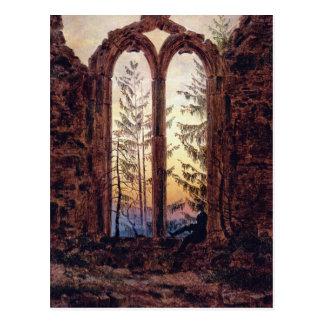Der Träumer - Ruinen eines Klosters bei Oybin Postkarte