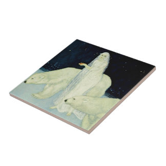 Der Träumer von Träumen: Weiß, glitzernd u. Keramikfliese