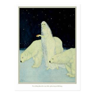 Der Träumer von Träumen: Weiß, glitzernd u. Postkarte
