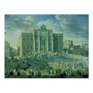 Der Trevi-Brunnen in Rom, 1753-56 Postkarte