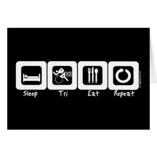 Der Tri Schlaf isst Wiederholung Karte