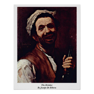 Der Trinker durch Jusepe De Ribera Poster