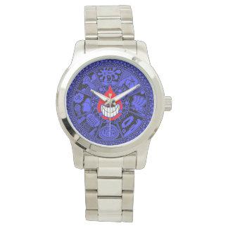 Der Tropfen blau und schwarz Armbanduhr