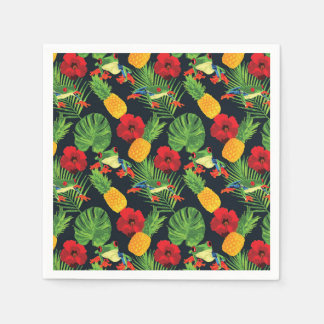 Der tropische rote mit Augen Baum-Frosch Papierserviette