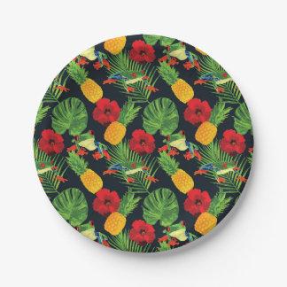 Der tropische rote mit Augen Baum-Frosch Pappteller