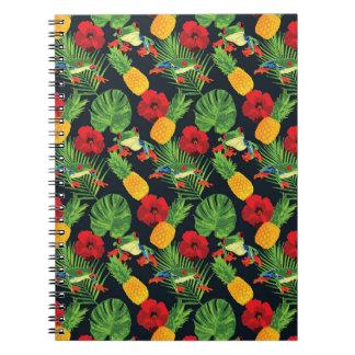 Der tropische rote mit Augen Baum-Frosch Spiral Notizblock