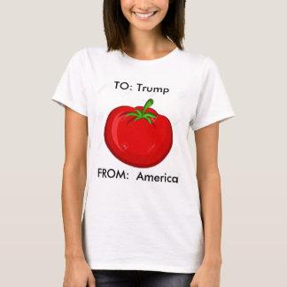 Der Trumpf-Tomate-Shirt der Frauen T-Shirt