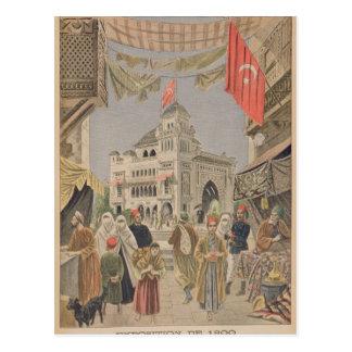 Der türkische Pavillon an dem universellen Postkarte