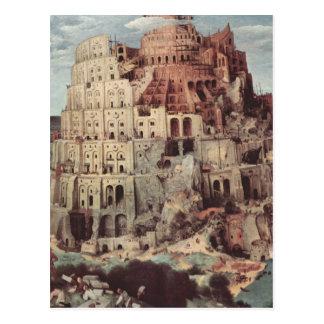 Der Turm von Babel - Pieter Bruegel das Älteste Postkarte
